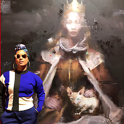 """Alicia Keys releases a photo on Twitter with the following caption: """"""""Last night. Berlin. #nocommission<br /> A piece of these spoke to a piece of me....."""""""". Photo Credit: Twitter *** No USA Distribution *** For Editorial Use Only *** Not to be Published in Books or Photo Books ***  Please note: Fees charged by the agency are for the agency's services only, and do not, nor are they intended to, convey to the user any ownership of Copyright or License in the material. The agency does not claim any ownership including but not limited to Copyright or License in the attached material. By publishing this material you expressly agree to indemnify and to hold the agency and its directors, shareholders and employees harmless from any loss, claims, damages, demands, expenses (including legal fees), or any causes of action or allegation against the agency arising out of or connected in any way with publication of the material."""