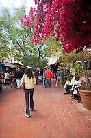 Olvera Street Tourism Scene, Los Angeles, California