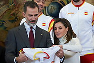 030618 Spanish Royals attends an audience with Olympic Team