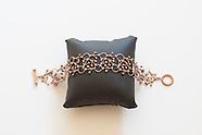 rose tone necklace and bracelet
