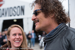 "Actor Kim Coates known for his roll as ""Tig"" on the Sons of Anarchy TV series during an autograph signing at the Harley-Davidson display at Daytona International Speedway on the first day of Daytona Beach Bike Week 2015. FL, USA. Saturday, March 7, 2015.  Photography ©2015 Michael Lichter."