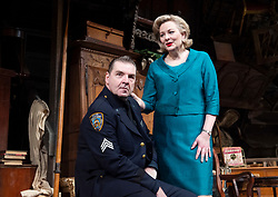 The Price <br /> by Arthur Miller <br /> 50th anniversary production presented by Theatre Royal Bath Productions and Jonathan Church Productions<br /> <br /> Wyndham's Theatre, <br /> London Great Britain <br /> Press photocall <br /> 7th February 2019 <br />  <br /> <br /> Brendan Coyle as Victor Franz <br /> Sara Stewart as Esther Franz <br /> <br /> Photograph by Elliott Franks