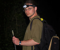 Dirk, well equipted for a night out in the field.