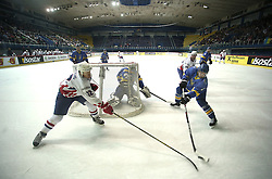 18.04.2016, Dom Sportova, Zagreb, CRO, IIHF WM, Ukraine vs Kroatien, Division I, Gruppe B, im Bild MILICIC Matija // during the 2016 IIHF Ice Hockey World Championship, Division I, Group B, match between Uraine and Croatia at the Dom Sportova in Zagreb, Croatia on 2016/04/18. EXPA Pictures © 2016, PhotoCredit: EXPA/ Pixsell/ Sanjin Strukic<br /> <br /> *****ATTENTION - for AUT, SLO, SUI, SWE, ITA, FRA only*****