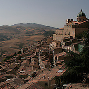 Landscape of Gangi and the Madonie mountain chain.