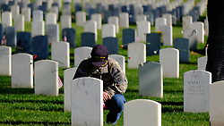 May 27, 2019 - Los Angeles, California, U.S. - People pay respect to fallen soldiers during an observance for Memorial Day at the Los Angeles National Cemetery. Californians are paying their respects on Memorial Day to those who have died serving their country. (Credit Image: © Jason Ryan/ZUMA Wire)
