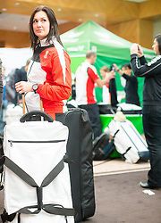 28.01.2014,  Marriott, Wien, AUT, Sochi 2014, Einkleidung OeOC, im Bild Nina Reithmayr (Rodeln, AUT) // Nina Reithmayr (sledge, AUT) during the outfitting of the Austrian National Olympic Committee for Sochi 2014 at the  Marriott in Vienna, Austria on 2014/01/28. EXPA Pictures © 2014, PhotoCredit: EXPA/ JFK