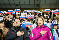 Slovenian fans during the UEFA EURO 2016 Play-off for Final Tournament, Second leg between Slovenia and Ukraine, on November 17, 2015 in Stadium Ljudski vrt, Maribor, Slovenia. Photo by Ziga Zupan / Sportida