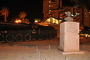 Bust of Mustafa Kemal Ataturk founder of the Republic of Turkey at the old Ottoman train station in Beer Sheva, Israel