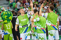 Edo Muric of Slovenia during opening ceremony for qualifying match between Slovenia and Kosovo for European basketball championship 2017,  Arena Stozice, Ljubljana on 31th August, Slovenia. Photo by Grega Valancic / Sportida