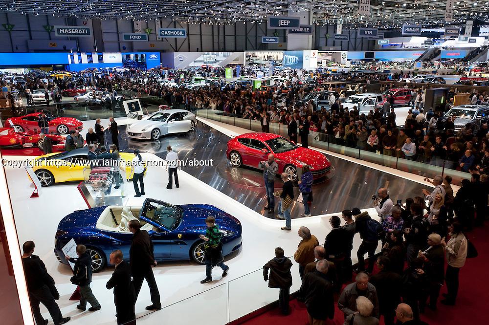 Ferrari stand at the Geneva Motor Show 2011 Switzerland