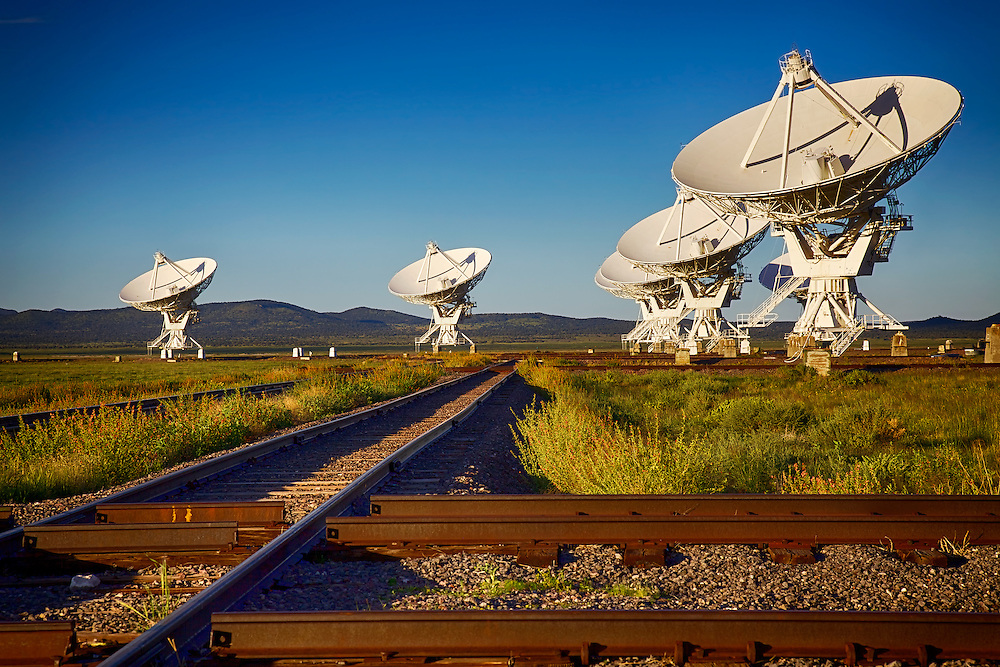 VLA astronomical radio observatory on the Plains of San Agustin near Socorro, NM (where the movie Contact was filmed)