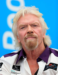 Sir Richard Branson addresses the Innovation Summit during round Ten of the FIA Formula E Championship at Battersea Park, London.