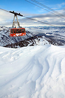 NEWS&GUIDE PHOTO / BRADLY J. BONER.The first public tram of the season approaches the top of Rendezvous Mountain on Friday morning. This is the last season skiers will be able go from base to summit at the resort, as the iconic tram will be decommissioned at the end of next summer.