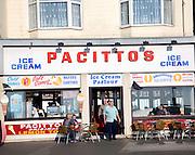 Pacittos Italian ice-cream shop and cafe, Scarborough, Yorkshire, England