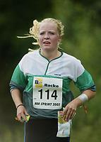 Orientering, 21. juni 2002. NM sprint. Ida Svanberg, Røyken.