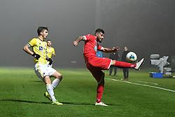 Luka Zahović of Maribor and Nemanja Jakšić of Aluminij during football match between NK Aluminij and NK Maribor in 18th Round of Prva liga Telekom Slovenije 2019/20, on November 24, 2019 in Sportni park Aluminij, Kidricevo Slovenia. Photo by Milos Vujinovic / Sportida
