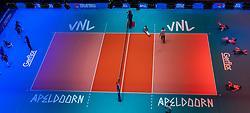 29-05-2019 NED: Volleyball Nations League Netherlands - Bulgaria, Apeldoorn<br /> Centercourt Apeldoorn, floor stickers