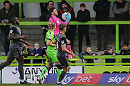 Forest Green Rovers goalkeeper James Montgomery catches the ball during the EFL Sky Bet League 2 match between Forest Green Rovers and Lincoln City at the New Lawn, Forest Green, United Kingdom on 2 March 2019.