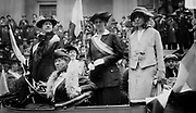 Alice Paul and Doris Stevens with Other Suffragists in a Car during a  Parade