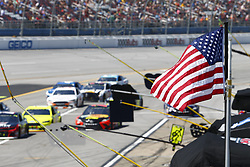 April 29, 2018 - Talladega, Alabama, United States of America - Martin Truex, Jr (78)  battles side by side down the front stretch for position during the GEICO 500 at Talladega Superspeedway in Talladega, Alabama. (Credit Image: © Justin R. Noe Asp Inc/ASP via ZUMA Wire)