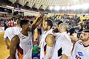 DESCRIZIONE : Roma Lega A 2014-2015 Acea Roma Grissinbon Reggio Emilia<br /> GIOCATORE : team<br /> CATEGORIA : postgame fairplay<br /> SQUADRA : Acea Roma<br /> EVENTO : Campionato Lega A 2014-2015<br /> GARA : Acea Roma Grissinbon Reggio Emilia<br /> DATA : 16/03/2015<br /> SPORT : Pallacanestro<br /> AUTORE : Agenzia Ciamillo-Castoria/GiulioCiamillo<br /> GALLERIA : Lega Basket A 2014-2015<br /> FOTONOTIZIA : Roma Lega A 2014-2015 Acea Roma Grissinbon Reggio Emilia<br /> PREDEFINITA :