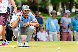 May 4, 2019 - Charlotte, NC, U.S. - CHARLOTTE, NC - MAY 04:  Max Homa reads the 3rd green during the third round of the Wells Fargo Championship at Quail Hollow on May 4, 2019 in Charlotte, NC. (Photo by William Howard/Icon Sportswire) (Credit Image: © William Howard/Icon SMI via ZUMA Press)