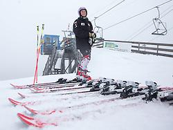 06.10.2015, Moelltaler Gletscher, Flattach, AUT, OeSV Medientag, im Bild Michaela Kirchgasser (AUT) // Austrian Skiracer Michaela Kirchgasser during the media day of Austria Ski Federation OSV at Moelltaler glacier in Flattach, Austria on 2015 10/05. EXPA Pictures © 2014, PhotoCredit: EXPA/ Johann Groder