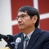 Navajo Nation Vice President and presidential candidate Jonathan Nez photographed during a presidential forum at Navajo Technical University earlier this year.