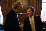 ED VICTOR AND NIGEL LAWSON, Book launch for AN APPEAL TO REASON, A Cool Look at Global Warming by Nigel Lawson. Hosted by NIGELLA LAWSON, DUCKWORTH PUBLISHERS and ED VICTOR LTD.<br />