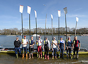 London, United Kingdom.  Elite composite of current GB internationals. 2014 Women's Head of the River Race. Chiswick to Putney, River Thames.  Saturday  15/03/2014    [Mandatory Credit; Peter Spurrier/Intersport-images]<br /> <br /> Crew Right to left.  Bow: Kristina Stiller, 2. Beth Rodford, 3.Jessica Eddie, 4, Zoe Lee, 5 Caragh McMurtry, 6. Olivia Carnegie-Brown, 7. Helen Glover, Stroke, Heather Stanning and Cox, Phelan Hill,