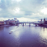 Pano of Blackfriars at sunset.<br /> <br /> Shot on iPhone 6.