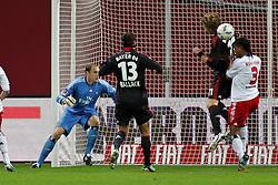 05.11.2011,  BayArena, Leverkusen, GER, 1.FBL, Bayer 04 Leverkusen vs Hamburger SV, im Bild.Der Ball fliegt an Freund und Feind vorbei zum 2:0 durch Lars Bender (Leverkusen #8)..// during the 1.FBL, Bayer Leverkusen vs Hamburger SV on 2011/11/05, BayArena, Leverkusen, Germany. EXPA Pictures © 2011, PhotoCredit: EXPA/ nph/  Mueller       ****** out of GER / CRO  / BEL ******