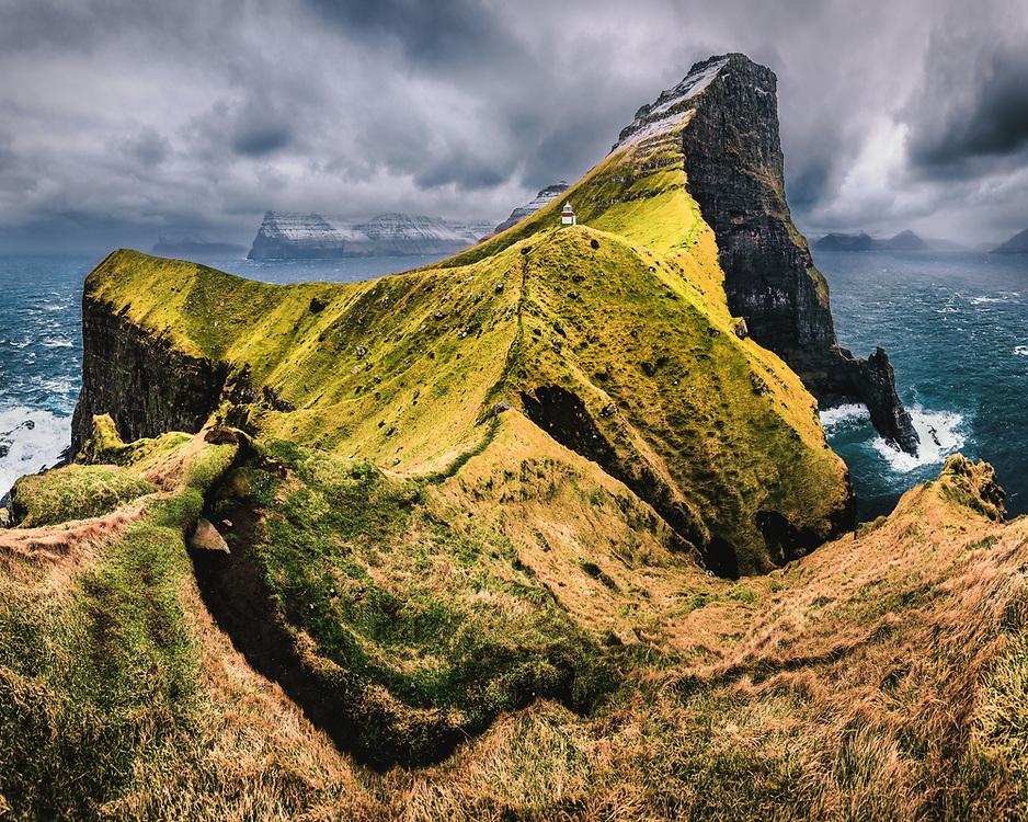 Kallur Lighthouse at Kalsoy, Faroe Islands