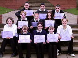 Year 8 & 9 pupils from the Elmhirst school at Worsbrough who were hand picked to play Defenc and Prossecution Councils, Magistrate defendent, court clerk and other key roles at a Mock trial held in Barnsley Court.
