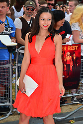 Red 2 UK film premiere.<br /> Leah Weller during the premiere of the sequel to 2010's graphic novel adaption, about a group of retired assassins. <br /> Empire Leicester Square<br /> London, United Kingdom<br /> Monday, 22nd July 2013<br /> Picture by Nils Jorgensen / i-Images