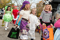 Holy Trinity School Trunk or Treat parade October 31, 2011.