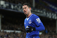 Bryan Oviedo of Everton looks on. Barclays Premier League match, Everton v Newcastle United at Goodison Park in Liverpool on Wednesday 3rd February 2016.<br /> pic by Chris Stading, Andrew Orchard sports photography.