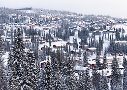 View of chalet accomodation in   Åre ski resort in Sweden