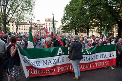 April 24, 2018 - Turin, Italy-April 24,2018: Torchlight procession for the Liberation Day in Turin (Credit Image: © Stefano Guidi via ZUMA Wire)