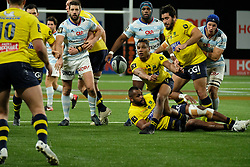 January 8, 2018 - Nanterre, Hauts de Seine, France - Clermont Scrum Half CHARLY TRUSSARDI in action during the French rugby championship Top 14 match between Racing Metro 92 and Clermont at U Arena Stadium in Nanterre - France.Racing won 58-6 (Credit Image: © Pierre Stevenin via ZUMA Wire)