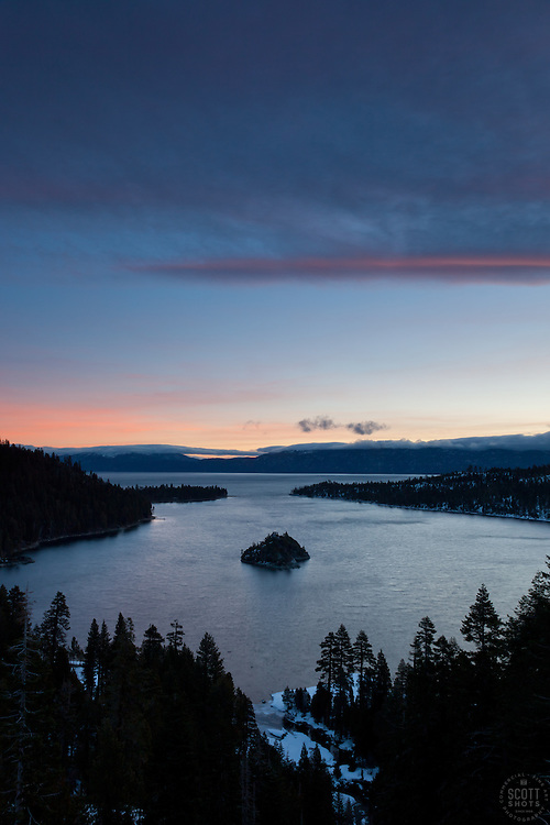 """""""Emerald Bay Sunrise 9"""" - This sunrise was photographed from the world famous Emerald Bay in Lake Tahoe, CA."""