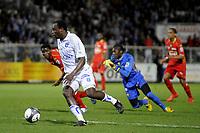 FOOTBALL - FRENCH CHAMPIONSHIP 2009/2010 - L1 - AJ AUXERRE v LA MANS UC - 20/03/2010 - PHOTO JEAN MARIE HERVIO / DPPI - DENNIS OLIECH (AJA)