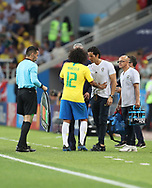 Marcelo of Brazil injured during the 2018 FIFA World Cup Russia, Group E football match between Erbia and Brazil on June 27, 2018 at Spartak Stadium in Moscow, Russia - Photo Tarso Sarraf / FramePhoto / ProSportsImages / DPPI