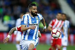 March 16, 2019 - Leganes, MADRID, SPAIN - Dimitrios Siovas of Leganes during the spanish championship, La Liga, football match played between CD Leganes and Girona FC at Butarque Stadium in Leganes, Madrid, Spain, on March 16, 2019. (Credit Image: © AFP7 via ZUMA Wire)