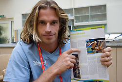 Jure Rovan of Slovenia  in a Team's Hotel Estrel  during day five of the 12th IAAF World Athletics Championships at the Olympic Stadium on August 19, 2009 in Berlin, Germany. (Photo by Vid Ponikvar / Sportida)
