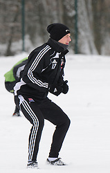 Dardan Idrizi of ND Mura 05 exercise during the Training on February 22, 2013 in Fazanerija, Murska Sobota, Slovenia. (Photo By Ales Cipot / Sportida.com)