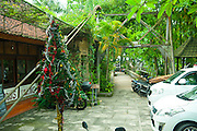 Christmas tree outside Murni's Warung, one of the older and more famous of Ubud's eating establishments.