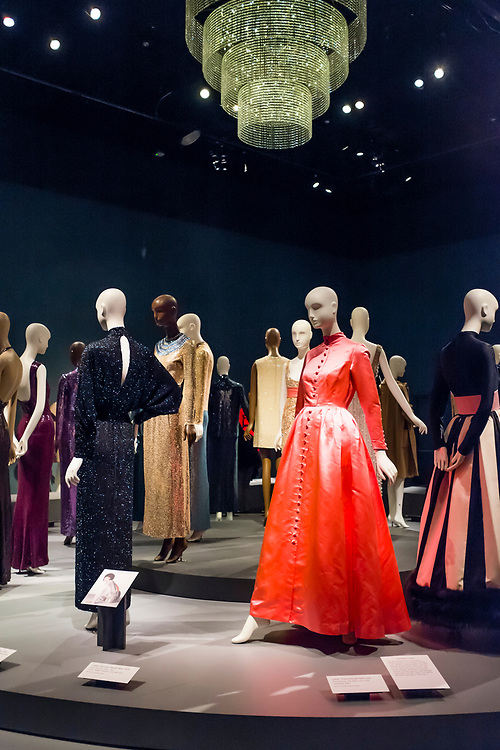 Ready-to-wear outfits by designer Norman Norell in the Museum at FIT.