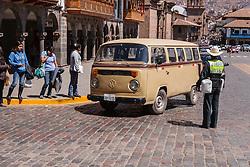 Old Inca town Cusco in Peru